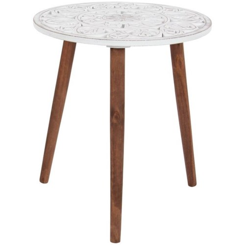Uma Enterprises Inc Accent Furniture Wood Carved Table