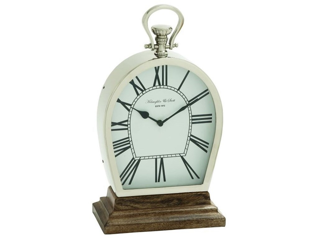 UMA Enterprises, Inc. AccessoriesSteel/Wood Table Clock