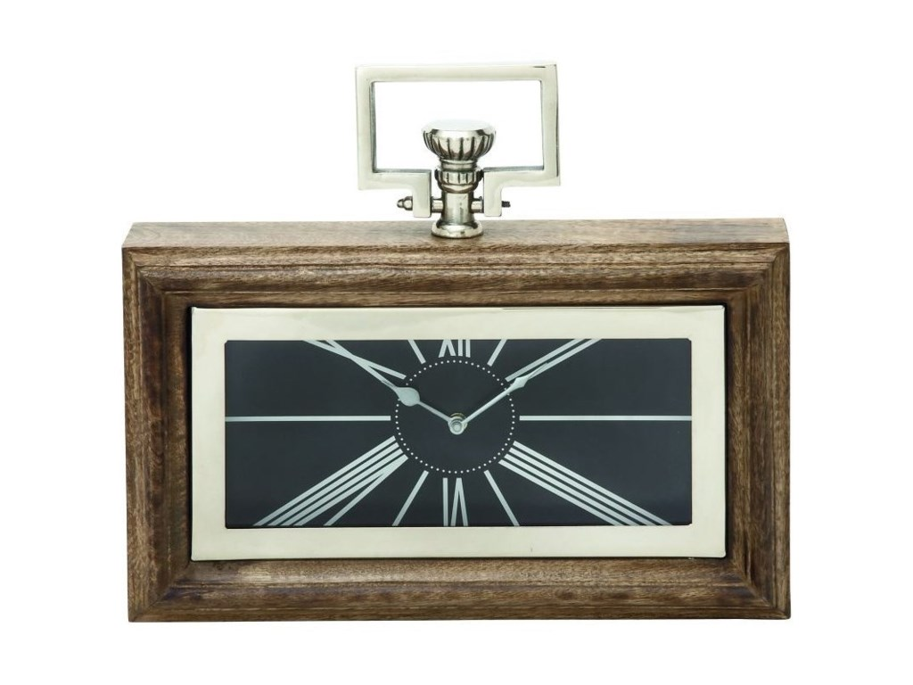 UMA Enterprises, Inc. AccessoriesWood/Steel Clock