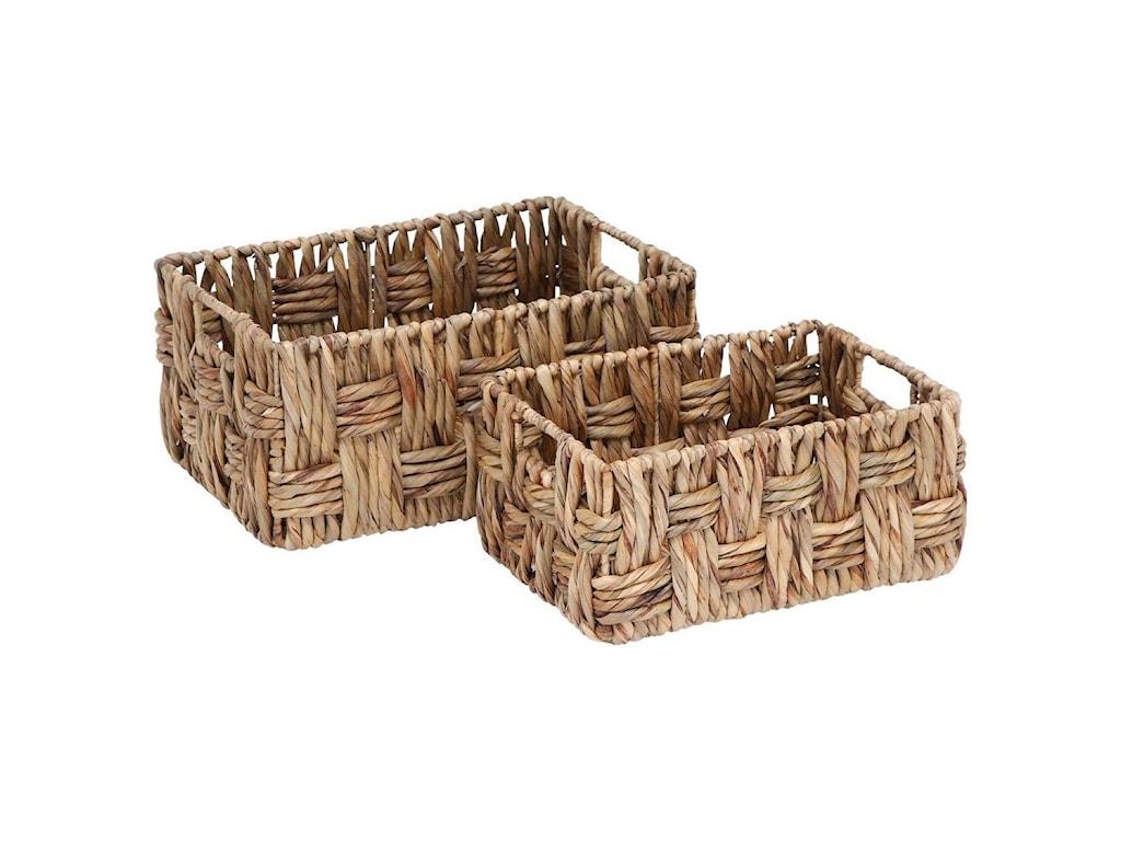 UMA Enterprises, Inc. AccessoriesWicker Baskets, Set of 2