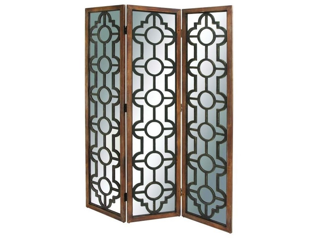 UMA Enterprises, Inc. AccessoriesWood Mirror 3 Panel Screen