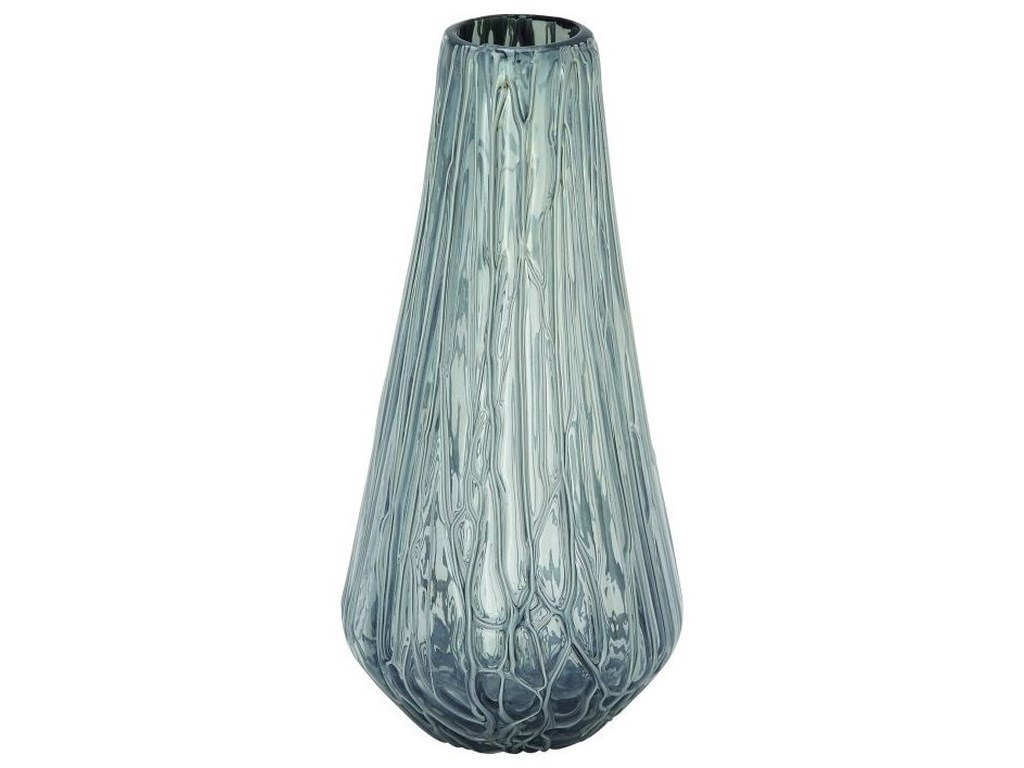UMA Enterprises, Inc. AccessoriesGlass Drip Grey Vase