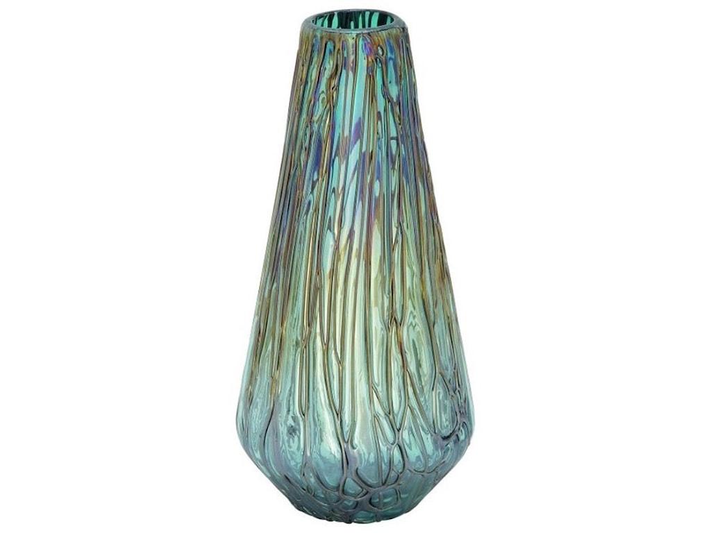 UMA Enterprises, Inc. AccessoriesGlass Drip Teal Vase
