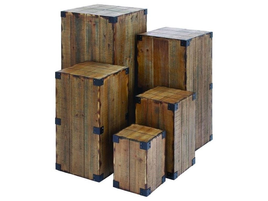 UMA Enterprises, Inc. AccessoriesWood Pedestals, Set of 5