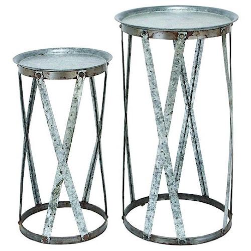 Uma Enterprises Inc Accessories Metal Pedestals Set Of 2
