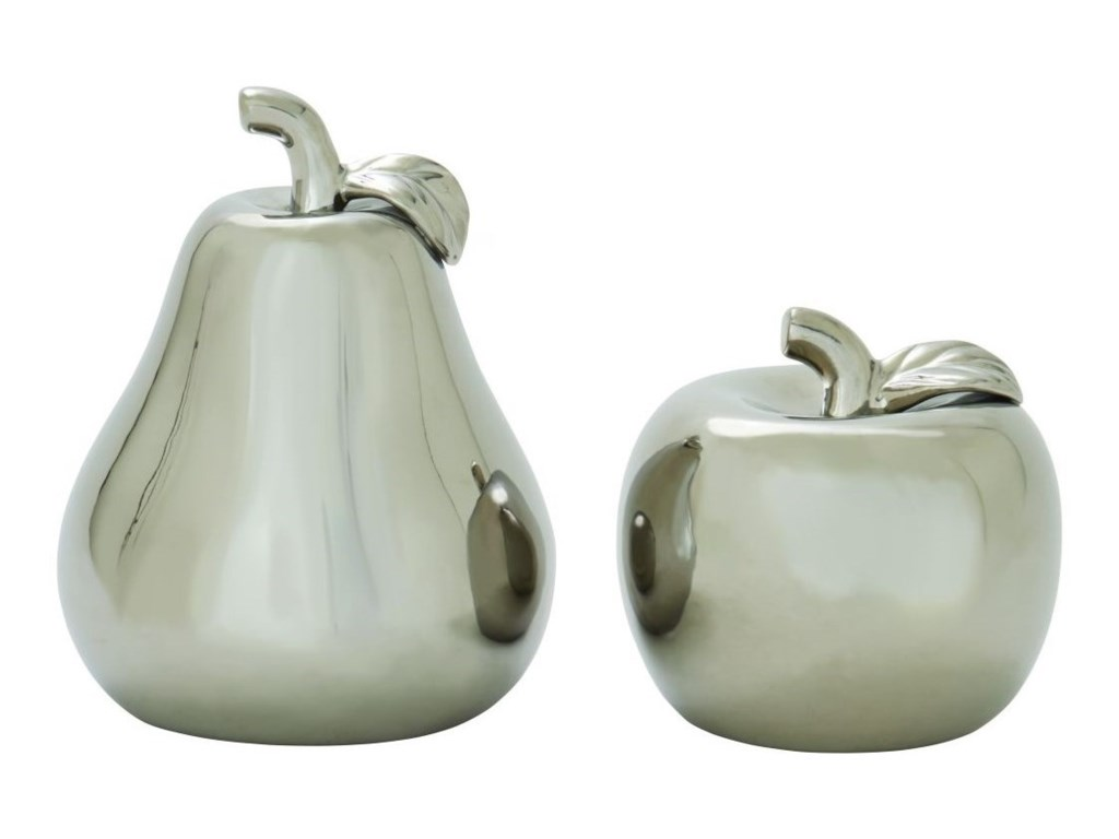 UMA Enterprises, Inc. AccessoriesCeramic Silver Pear & Apple