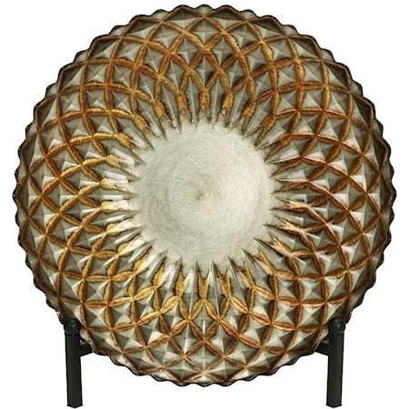Glass Bowl w/ Metal Easel