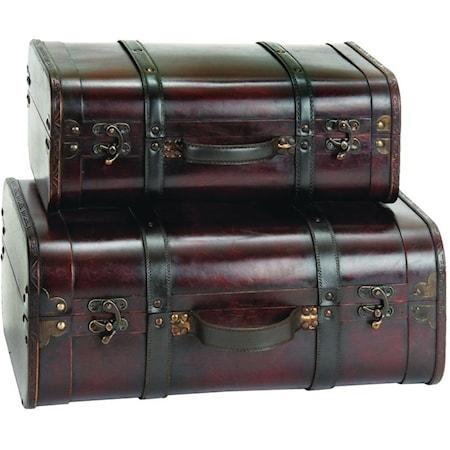 Suitcase Shape Boxes, Set of 2