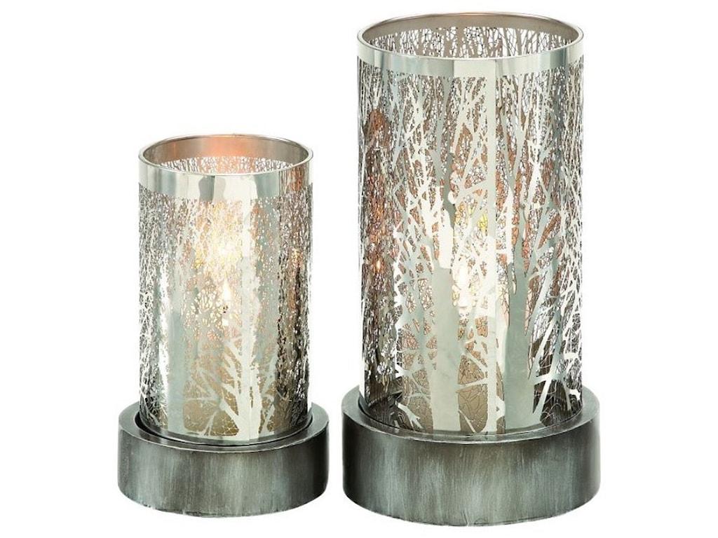 UMA Enterprises, Inc. AccessoriesMetal Candle Holders, Set of 2