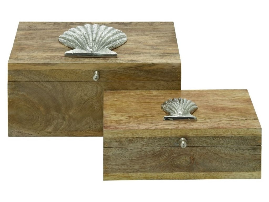UMA Enterprises, Inc. AccessoriesWood/Metal Boxes, Set of 2