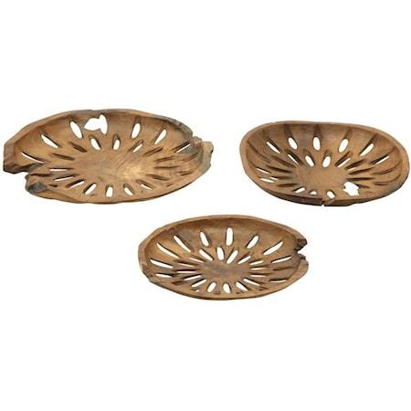 Teak Decor Bowls, Set of 3