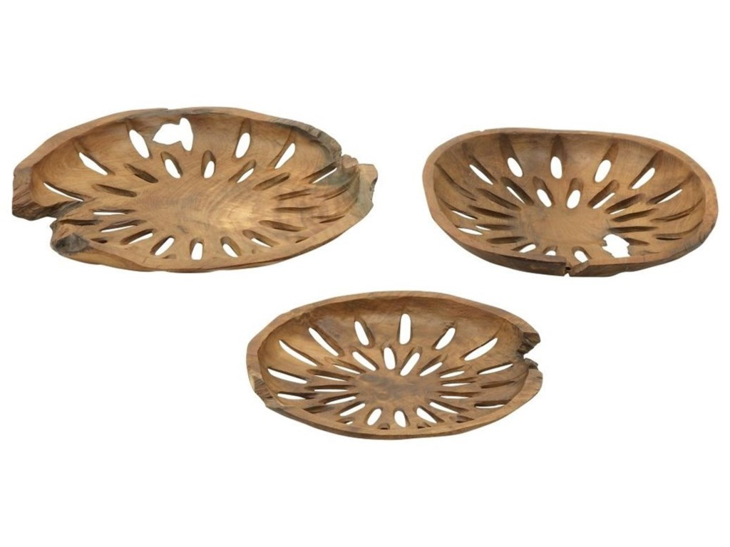 UMA Enterprises, Inc. AccessoriesTeak Decor Bowls, Set of 3