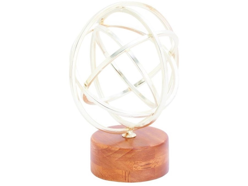 UMA Enterprises, Inc. AccessoriesMetal/Wood Silver Sculpture