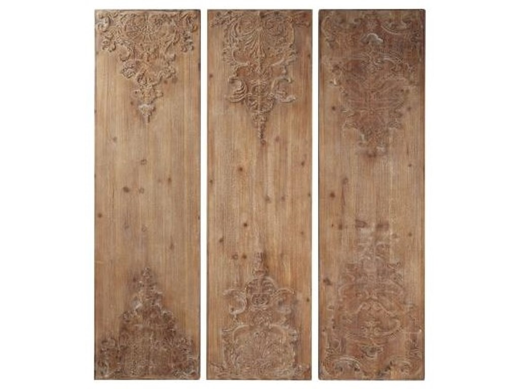 UMA Enterprises, Inc. Wall Art3 Piece Wooden Wall Decor