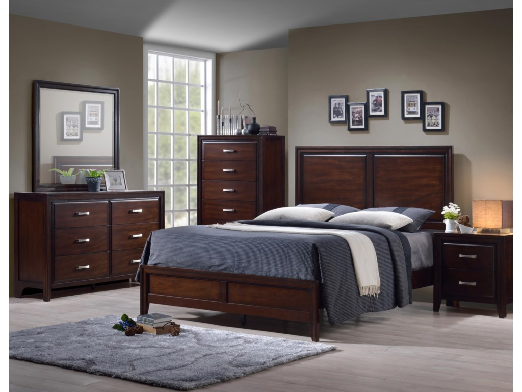 Simmons Upholstery 1006 AgathisQueen 5 Piece Bedroom Group