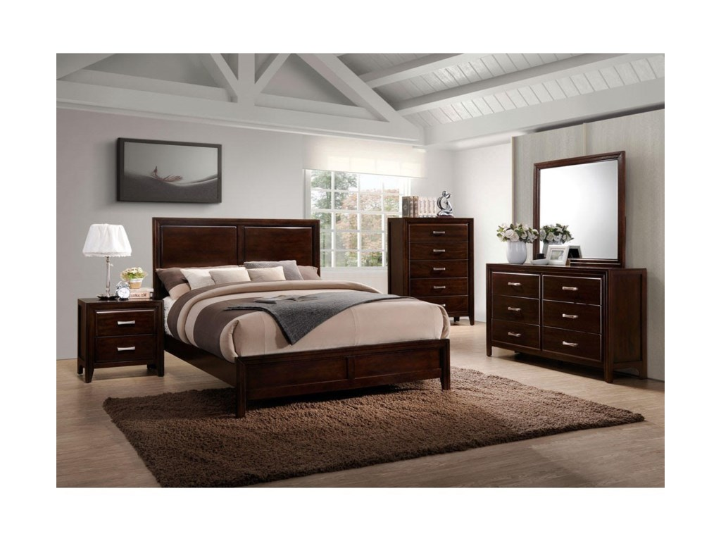 Simmons Upholstery 1006 AgathisQueen Bedroom Group