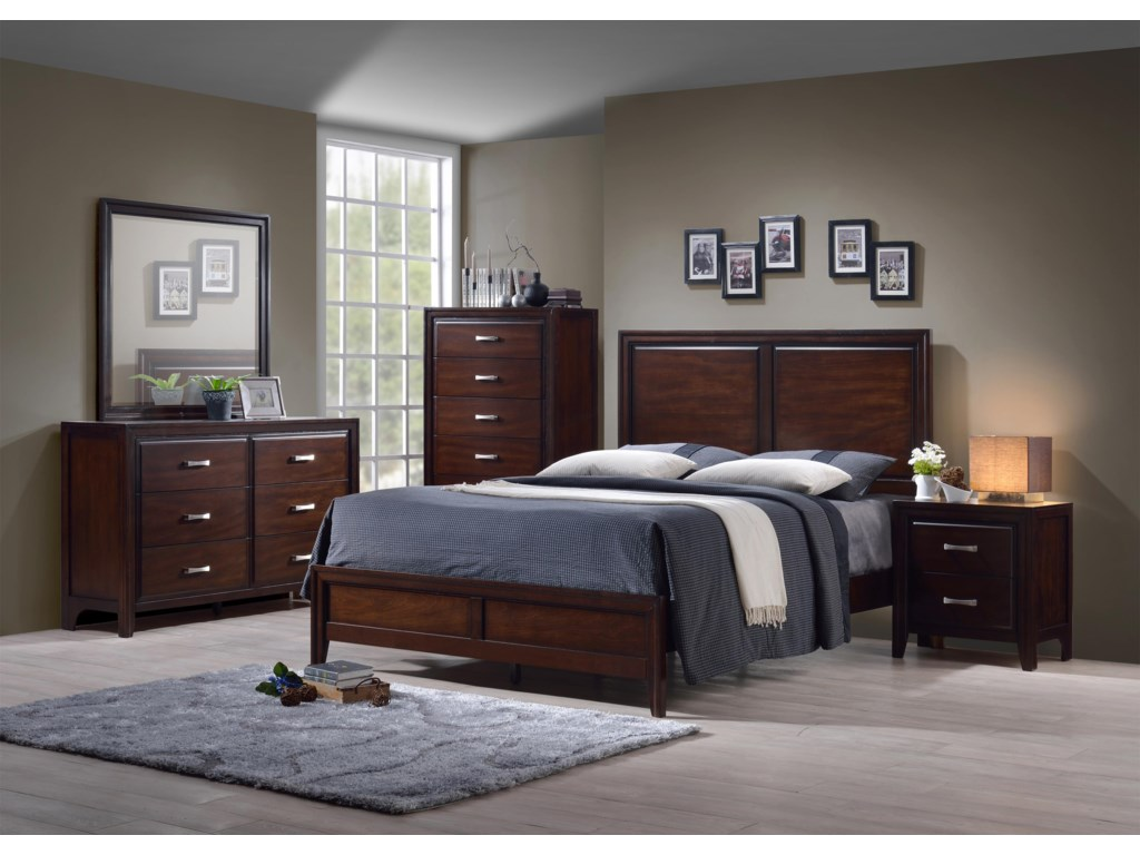 Simmons Upholstery 1006 AgathisTwin 5 Piece Bedroom Group