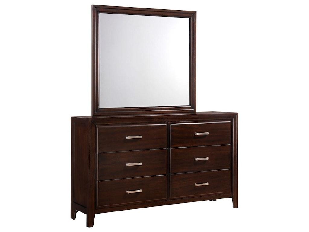 Simmons Upholstery 1006 AgathisDresser and Mirror