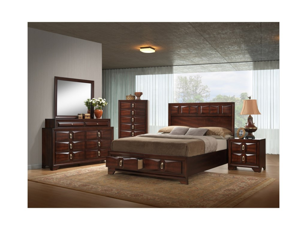 United Furniture Industries 1012 RoswellKing Bedroom Group