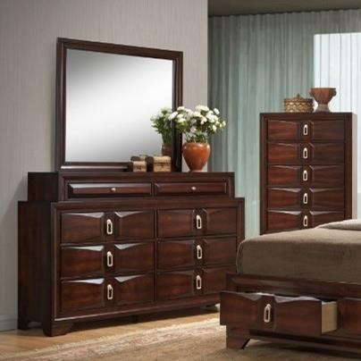 United Furniture Industries 1012 Roswell8 Drawer Dresser and Mirror