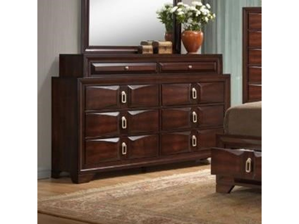 United Furniture Industries 1012 Roswell 1012 10 8 Drawer Dresser