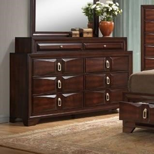 United Furniture Industries 1012 Roswell 8 Drawer Dresser with Top Jewelry Storage