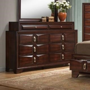 United Furniture Industries 1012 Roswell8 Drawer Dresser ...