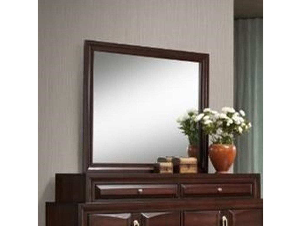 Simmons Upholstery 1012 RoswellMirror with Wood Frame
