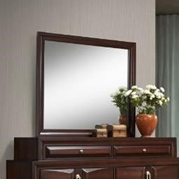 United Furniture Industries 1012 Roswell Mirror with Wood Frame