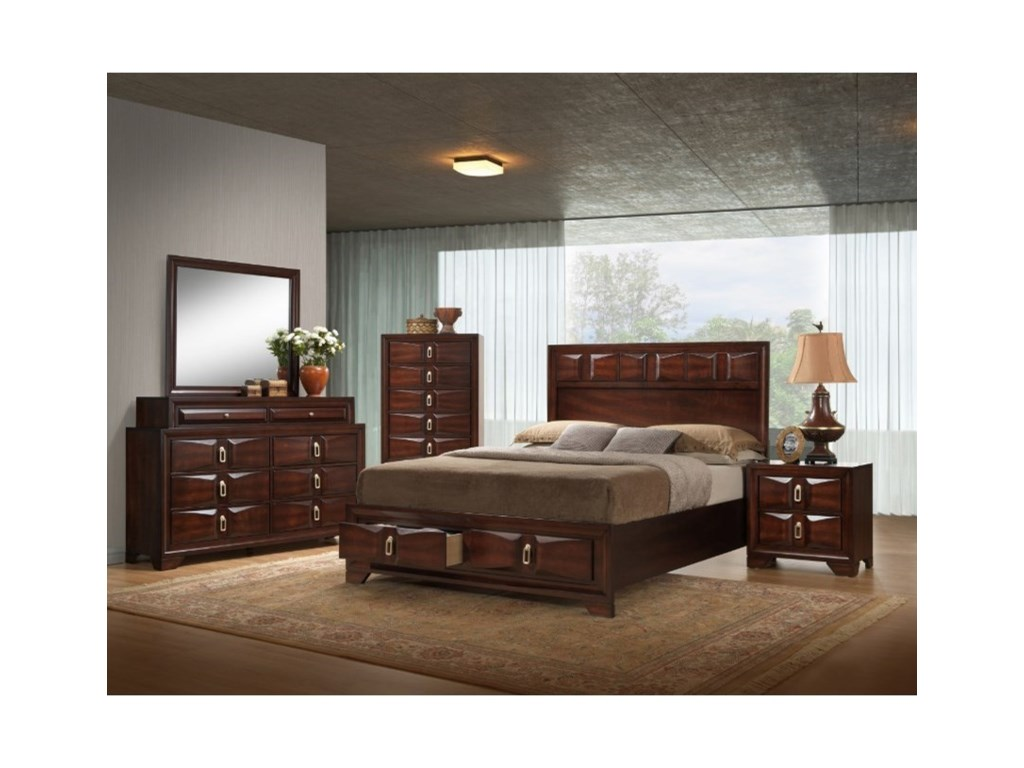 Simmons Upholstery 1012 RoswellQueen Storage Bed