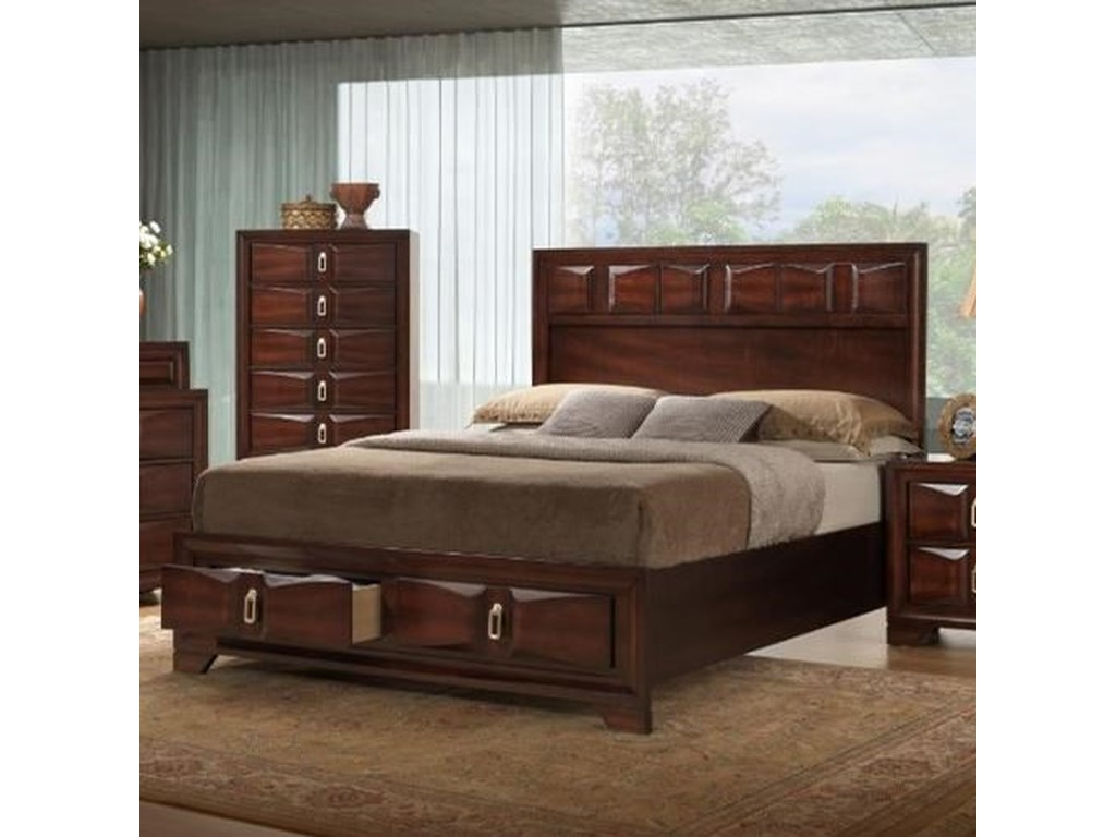 United Furniture Industries 1012 RoswellKing Storage Bed