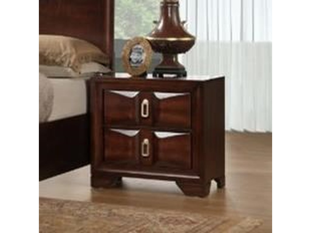 Simmons Upholstery 1012 Roswell2 Drawer Nightstand