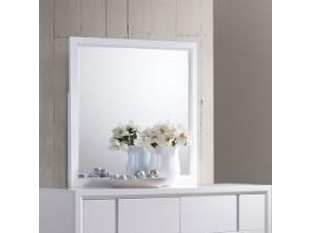 United Furniture Industries 1011Mirror with Wood Frame