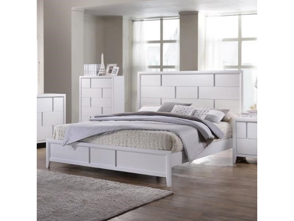 United Furniture Industries 1011Queen Panel Bed