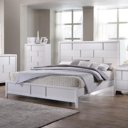 Simmons Upholstery 1011Queen Panel Bed