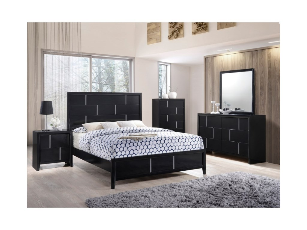 United Furniture Industries 1014Queen Panel Bed