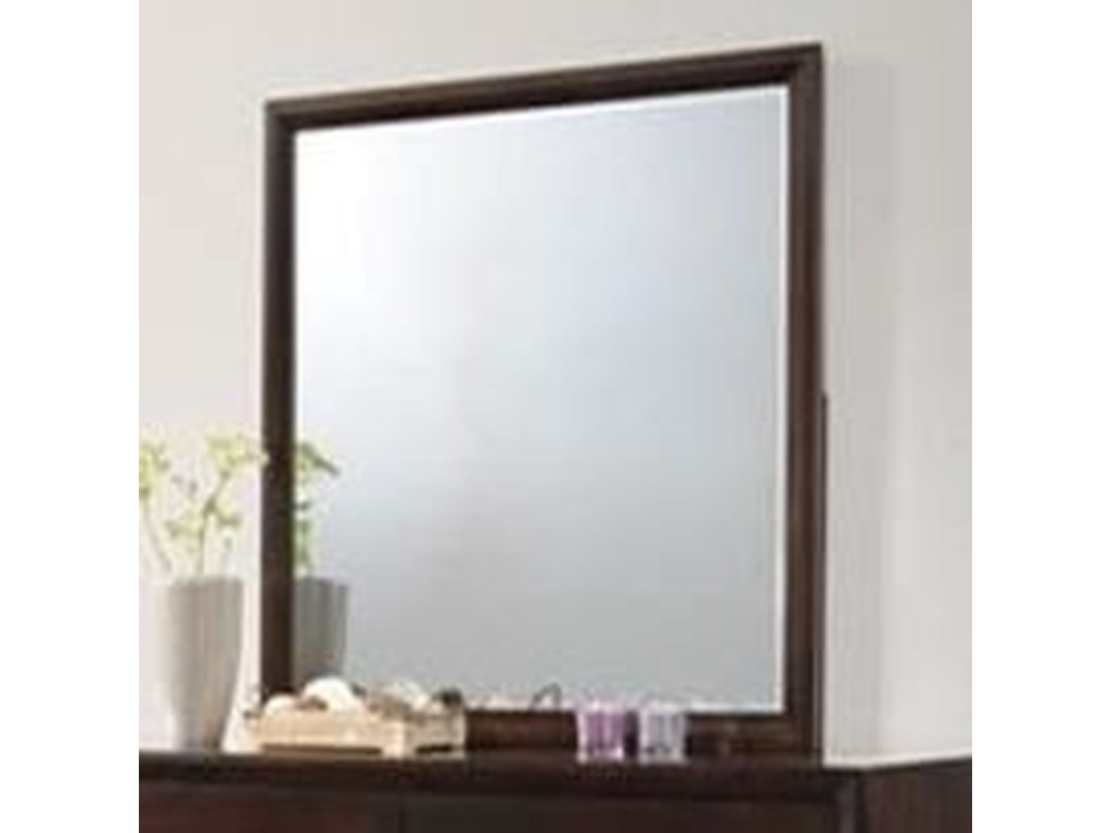 Simmons Upholstery 1017Mirror with Wood Frame