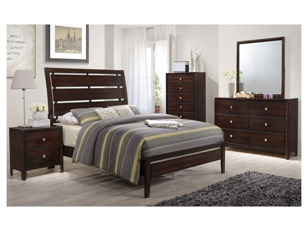 Lane Furniture 1017Full Panel Bed