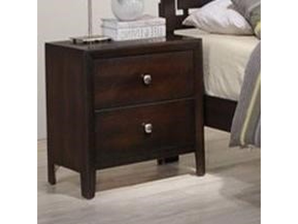 Simmons Upholstery Jackson2 Drawer Night Stand