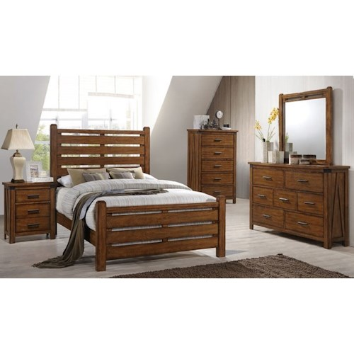 United Furniture Industries 1022 Logan King Bedroom Group