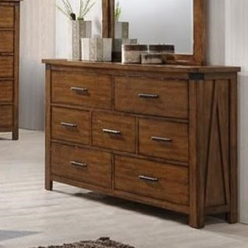 United Furniture Industries 1022 Logan 7 Drawer Dresser