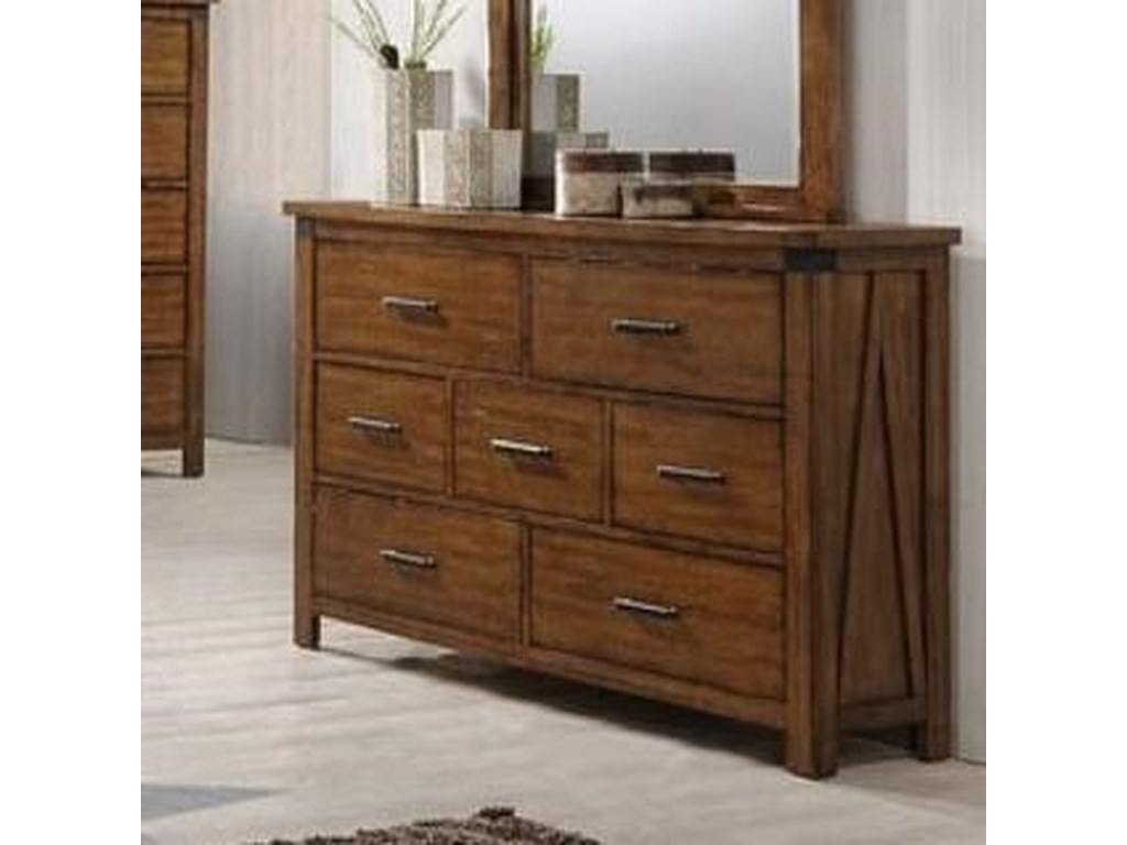 Simmons Upholstery 1022 Logan7 Drawer Dresser