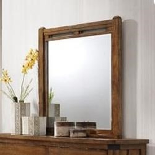 United Furniture Industries 1022 Logan Mirror with Wood Frame