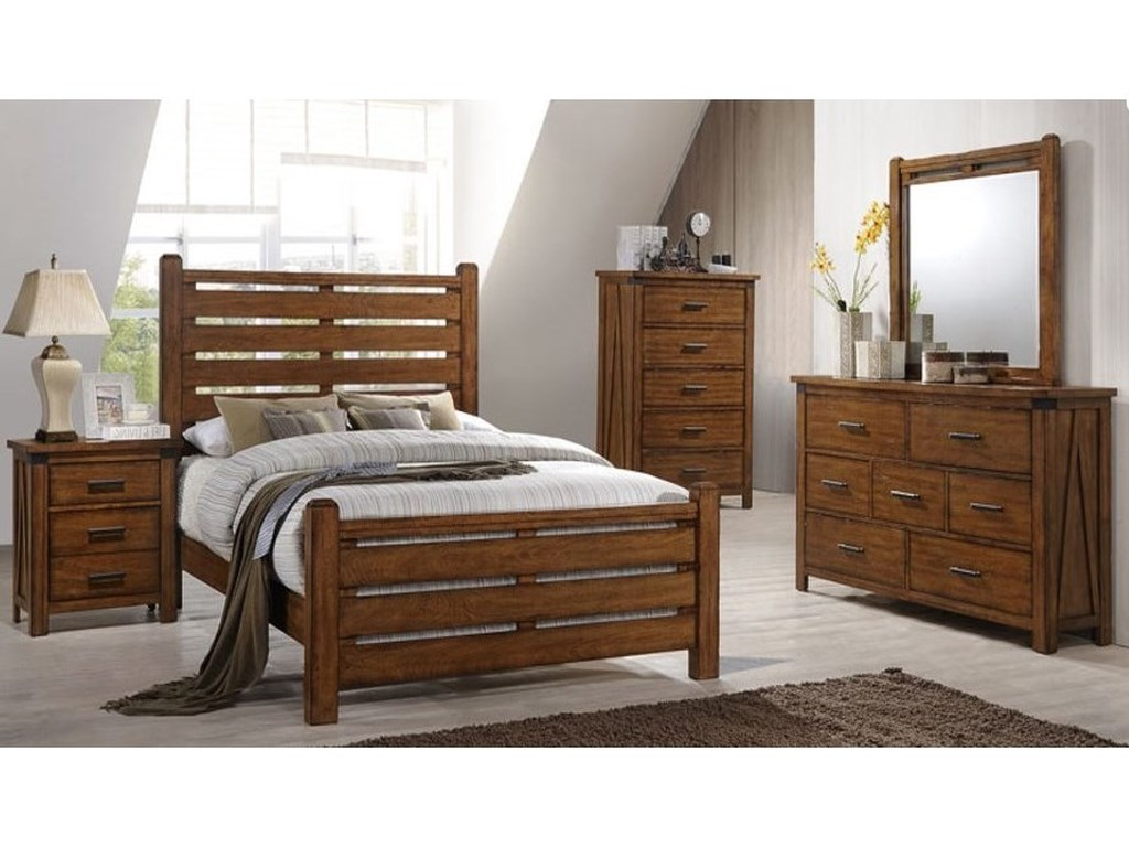 United Furniture Industries 1022 LoganQueen Bed