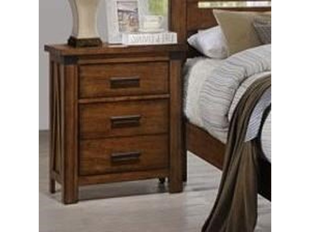United Furniture Industries 1022 Logan3 Drawer Nightstand
