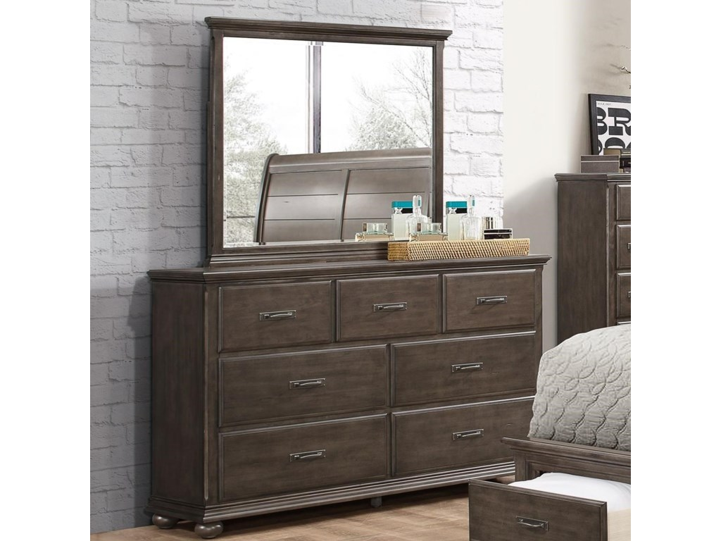 Simmons Upholstery 1026Dresser with Mirror