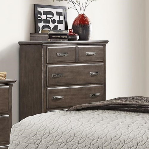 Umber Larissa Rustic Chest with 6 Drawers