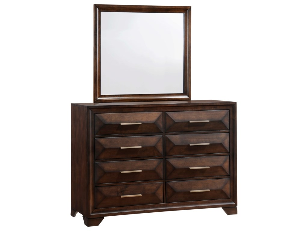 United Furniture Industries AnthemDresser and Mirror Set