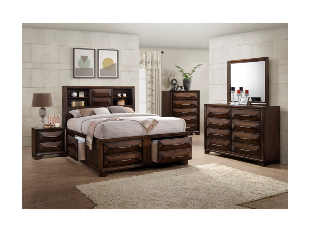 United Furniture Industries AnthemQueen Bookcase Bed