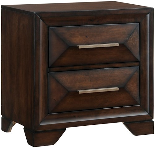 United Furniture Industries Anthem Mid-Century Modern Nightstand with 2 Drawers